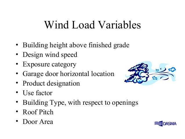 Wind load for Wind code garage doors