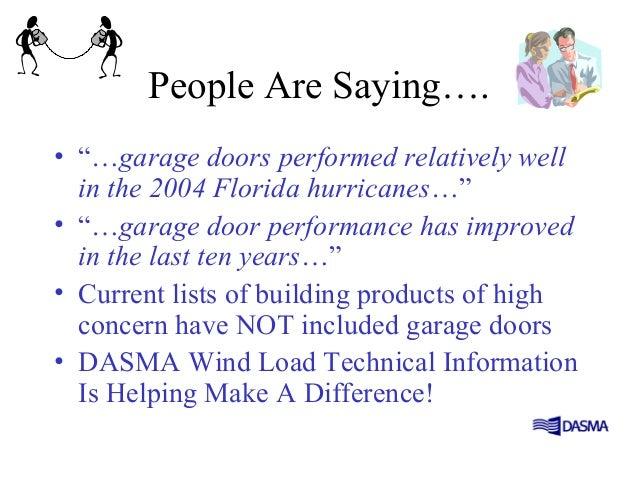 Wind load for Florida wind code for garage doors