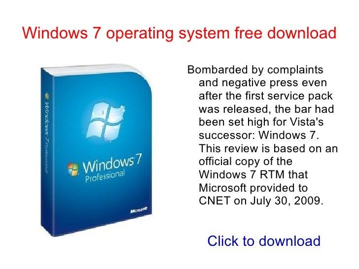 Window 7 release date