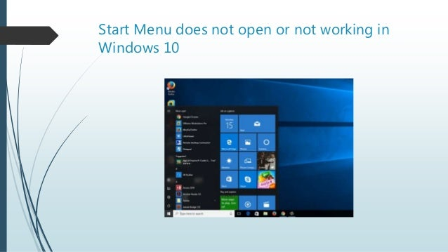 windows 10 start button is not working