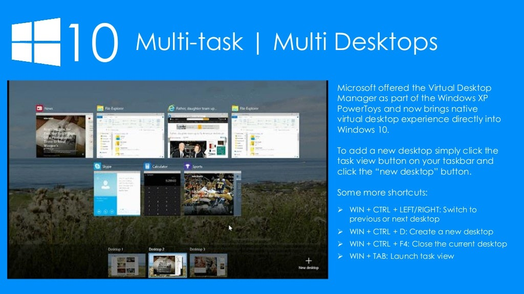 multi desktop windows 10