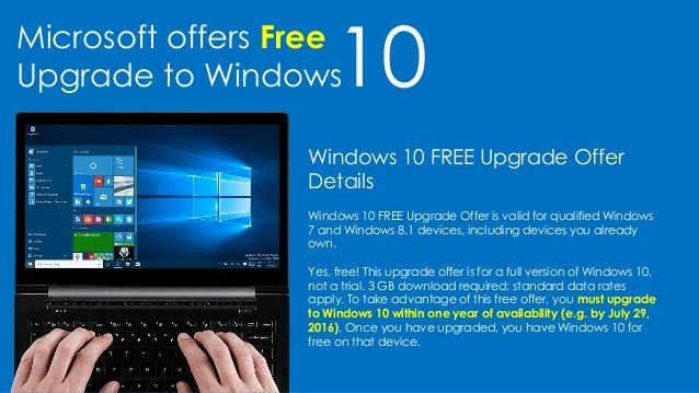 10Microsoft offers Free Upgrade to