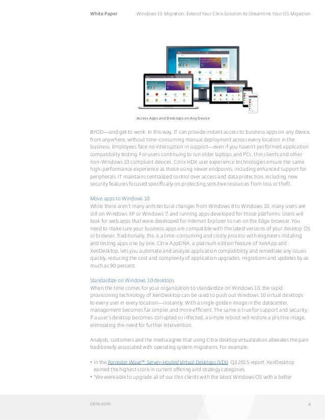 Windows 10 Migration: Extend Your Citrix Solution to
