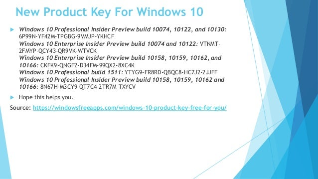 Free Windows 10 Product Key (100% WORKING)