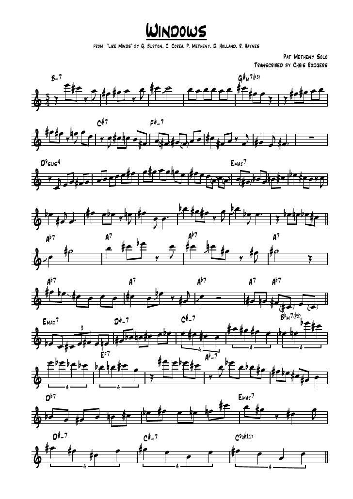 Windows - Pat Metheny solo