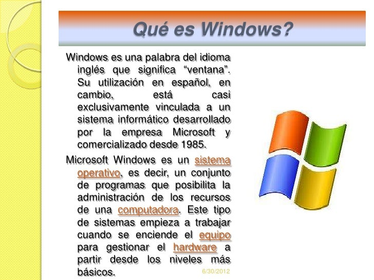 Windows for Que significa hardware