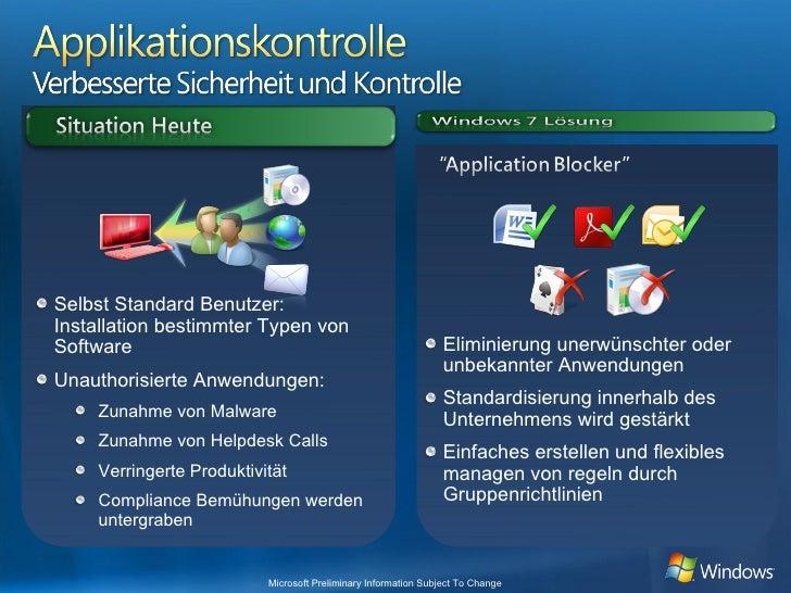 <ul><ul><li>Eliminierung unerwünschter oder unbekannter Anwendungen </li></ul></ul><ul><ul><li>Standardisierung innerhalb ...