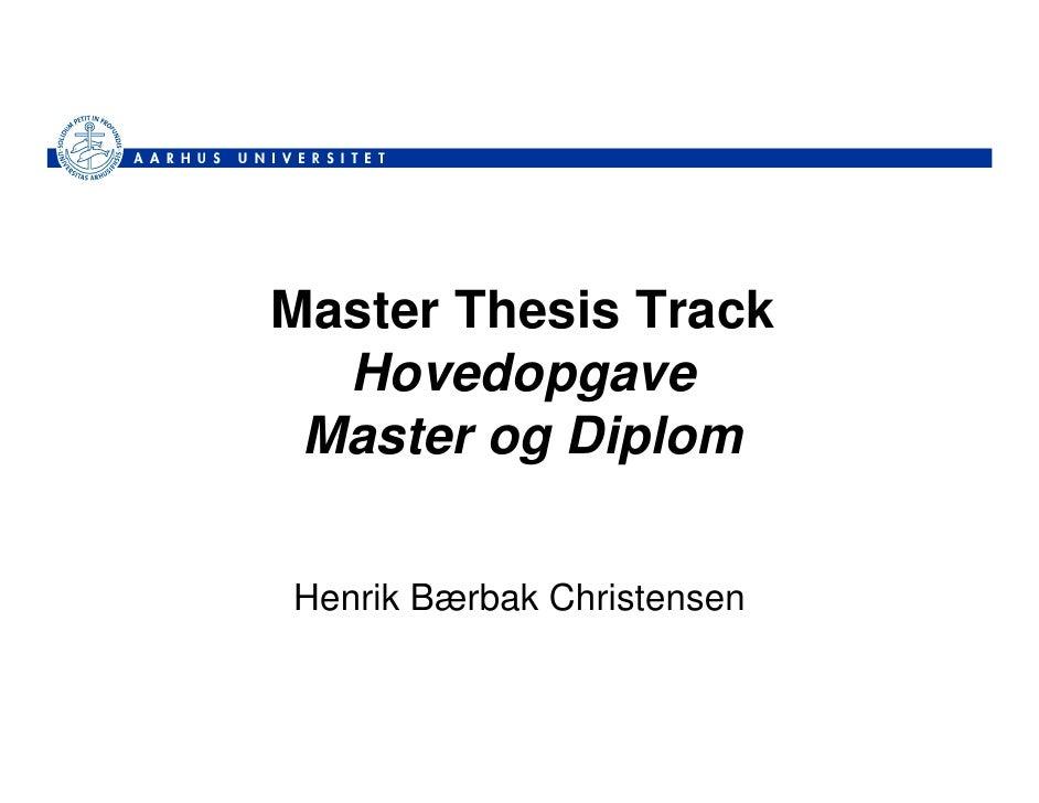 Master Thesis Database Eur