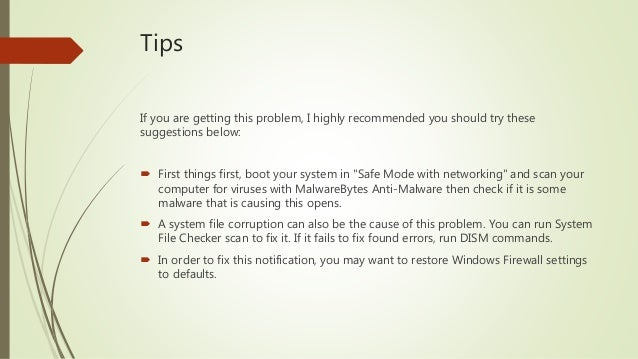 FIX: Windows Firewall Has Blocked Some Features Of This App in Window…