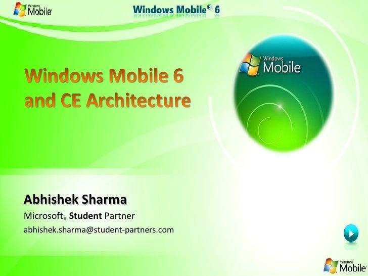 Abhishek Sharma Microsoft ®  Student  Partner [email_address]