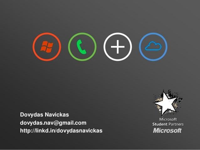 Dovydas Navickasdovydas.nav@gmail.comhttp://linkd.in/dovydasnavickas