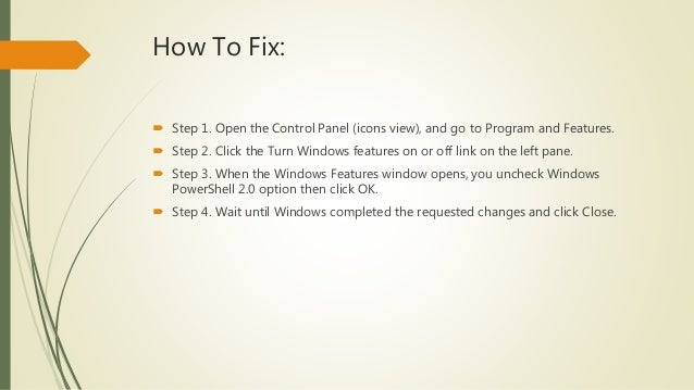 how to fix powershell has stopped working windows 10