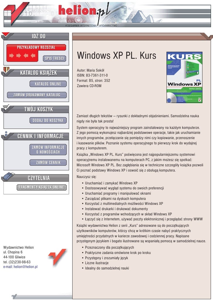 N Home Elevation Xp : Windows xp pl kurs