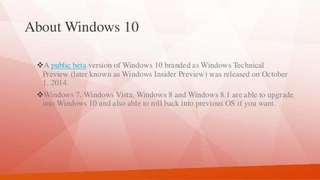 introduktion til windows 10