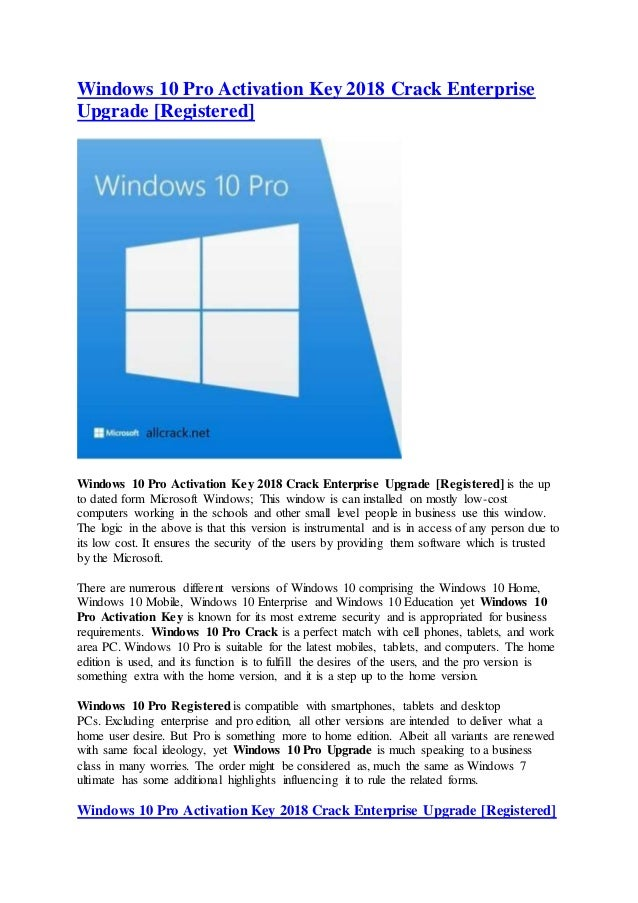 activate windows 10 pro crack product key