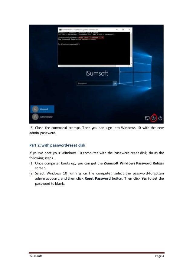 windows 10 password refixer