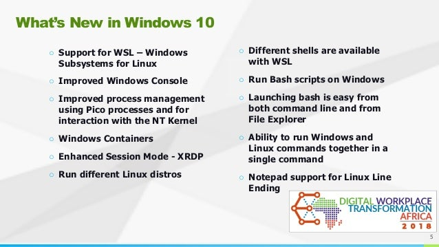 Windows 10 Linux Work Environment Improvements with WSL