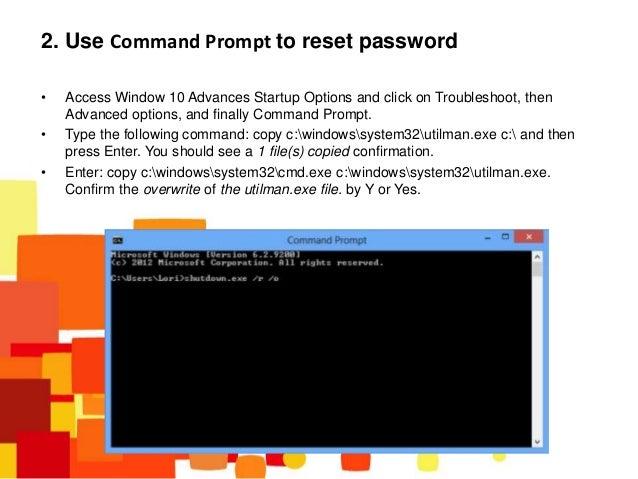 Top 3 ways to reset Windows 10 password