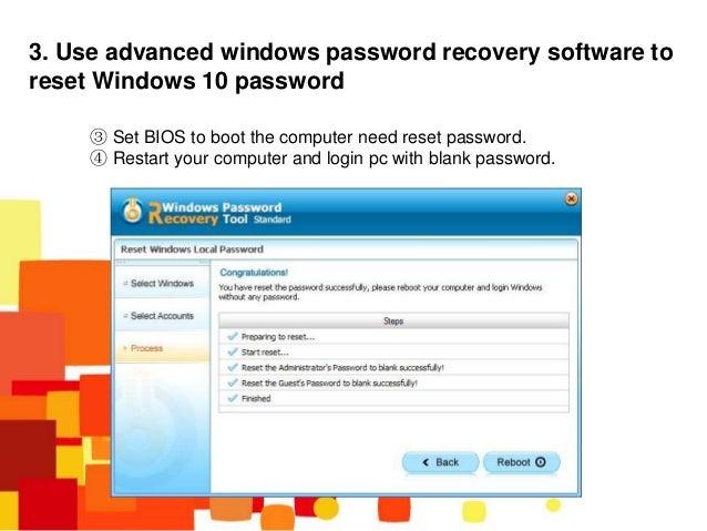 how to break windows 10 password