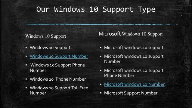 microsoft windows 10 support number