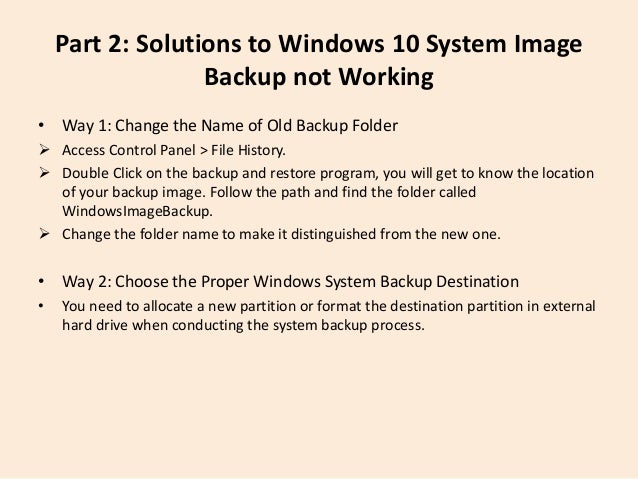 Windows 10 Won't Backup to External Drive-What to Do
