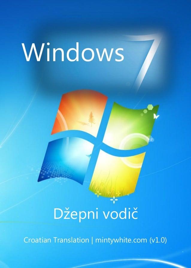 Windows Džepni vodič Croatian Translation | mintywhite.com (v1.0)