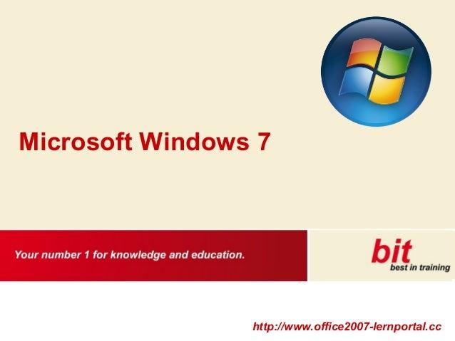 http://www.office2007-lernportal.cc Microsoft Windows 7