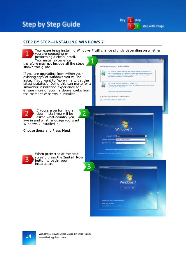 windows 7 power users guide rh slideshare net Windows 7 Manual Guide windows 7 user experience guidelines