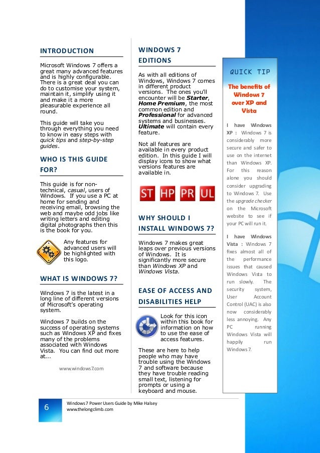 windows 7 power users guide rh slideshare net Windows 7 SSD Guide Screen Windows 7 Guide
