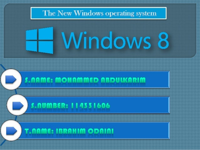 • Windows 8 is the current release of the Windows operating system, produced by Microsoft for use on personal computers, i...