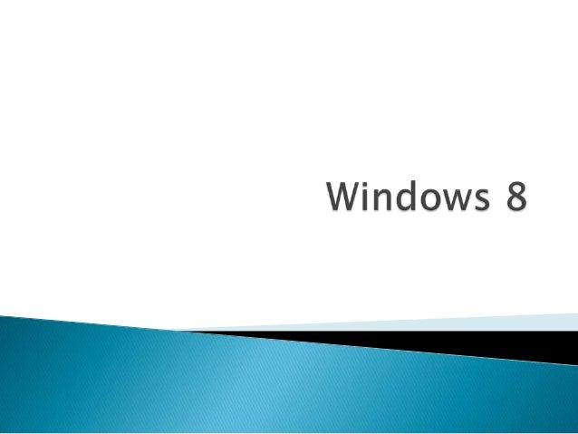 O Windows 8 é um sistema operacionalmultitarefa criado pela Microsoft e é osucessor do Windows 7,com uma interfacetotalm...