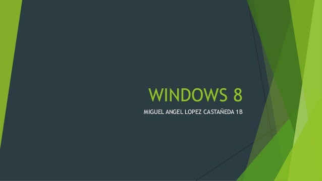 WINDOWS 8 MIGUEL ANGEL LOPEZ CASTAÑEDA 1B