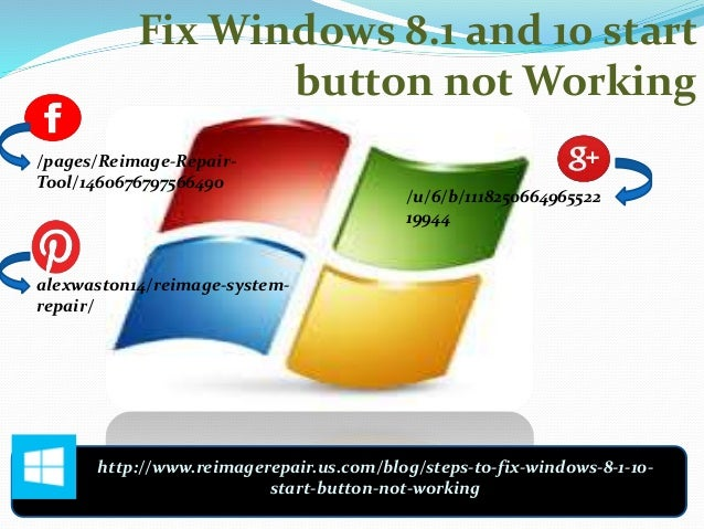 Fix windows 8 1 and 10 start button not working for Window key not working
