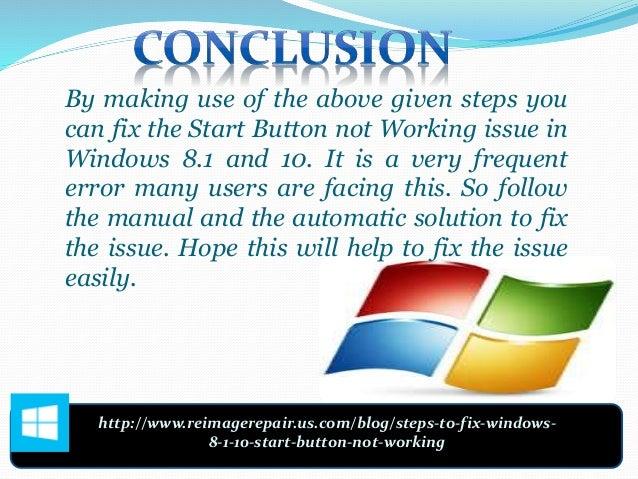 windows 10 bouton start button how to fix