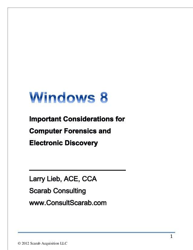 1© 2012 Scarab Acquisition LLC
