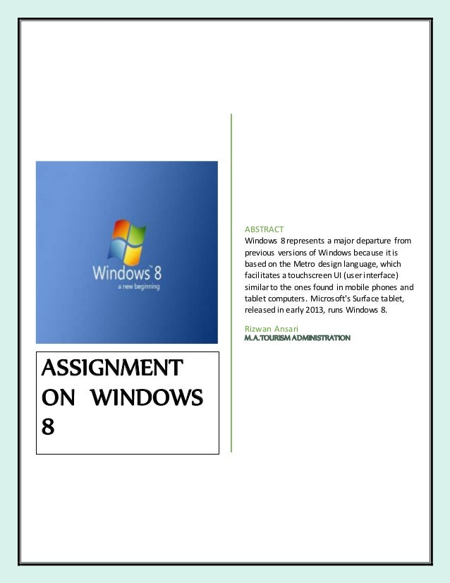 Difference between windows7 and windows8