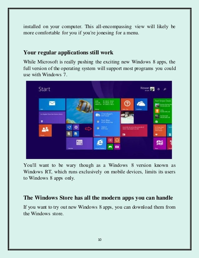 how to get windows 8 features in windows 10
