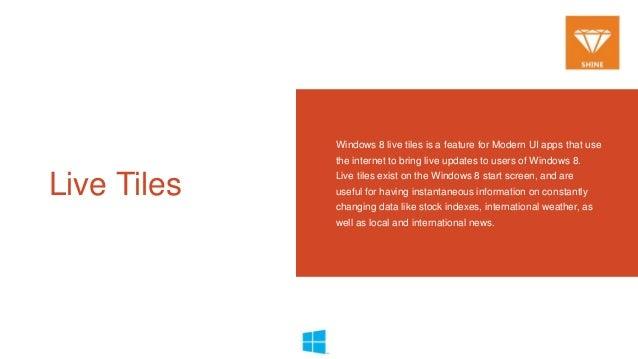 Windows 8 app bar and live tiles