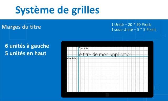 Système de grilles                          1 Unité = 20 * 20 PixelsMarges du titre           1 sous-Unité = 5 * 5 Pixels ...