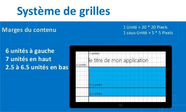 Système de grilles                           1 Unité = 20 * 20 PixelsMarges du contenu          1 sous-Unité = 5 * 5 Pixel...