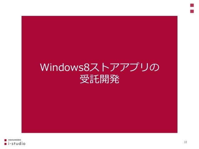 Windows8ストアアプリの 受託開発 18