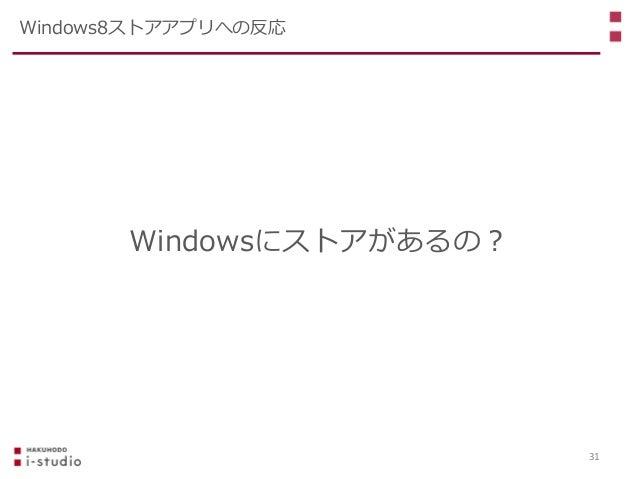 Windowsにストアがあるの? Windows8ストアアプリへの反応 31
