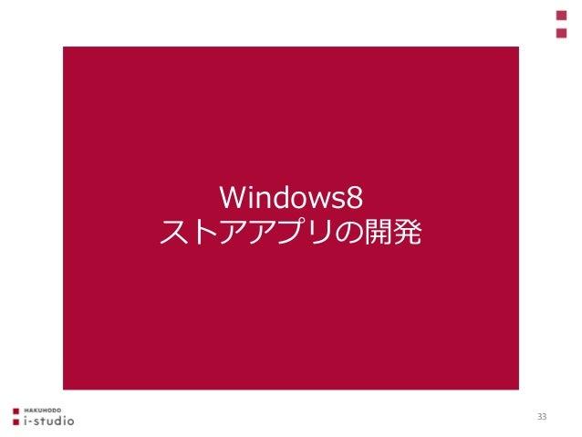 Windows8 ストアアプリの開発 33