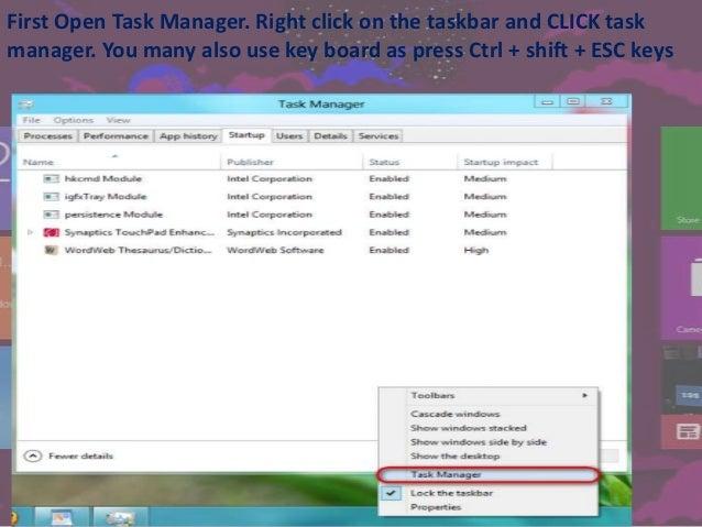 disable right click windows 8