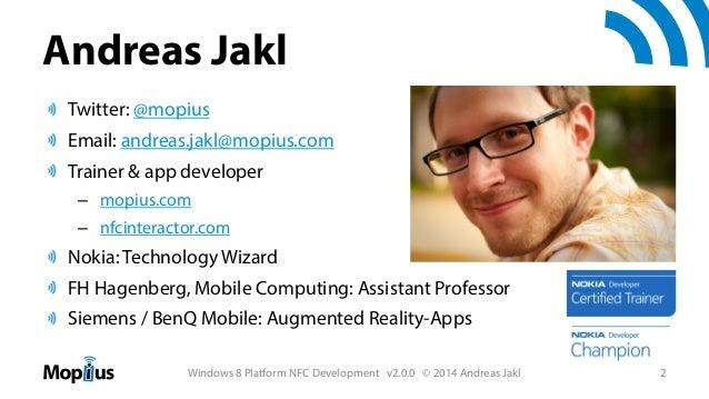 Windows 8 Platform NFC Development Slide 2