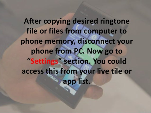 how to add ringtone on pc for mails