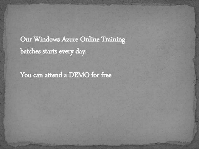 windows azure online training