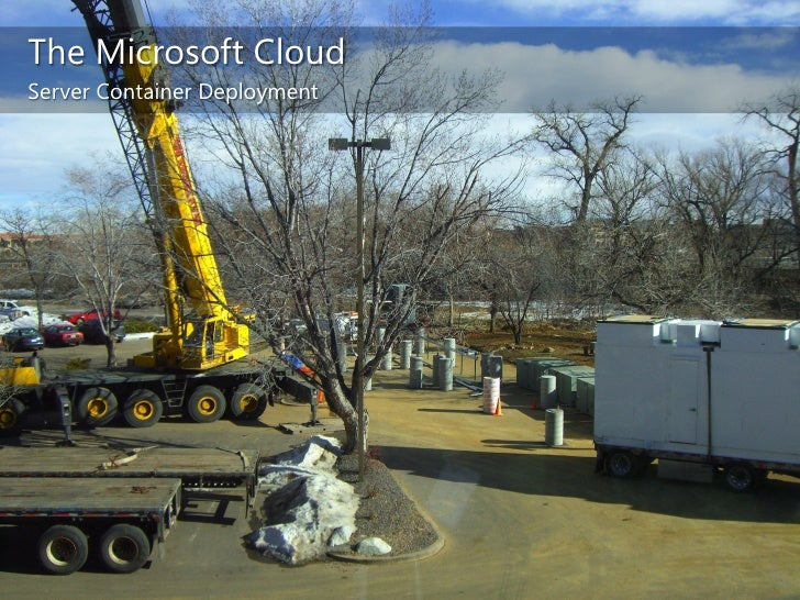 The Microsoft Cloud<br />Data Center Infrastructure<br />3rd most connected network worldwide<br />Purpose-built data cent...
