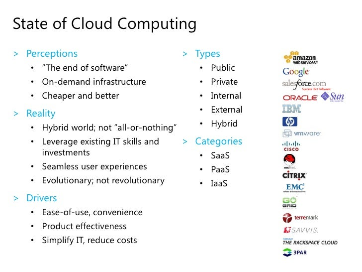 Your<br />Own<br />Data Center<br />Someone<br />Else's<br />Data Center<br />Many Views of Cloud Computing<br />Use (serv...