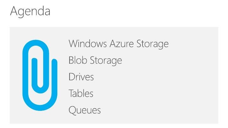 Windows Azure Storage Slide 2